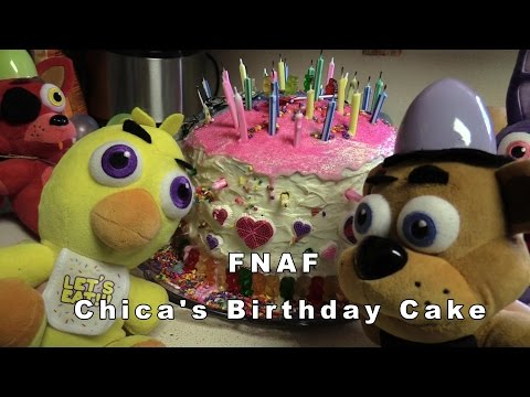 FNAF plush Episode 29 - Chica's Birthday Cake