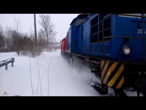 Schneepflug mit PRESS 204 022-2 in Zwönitz