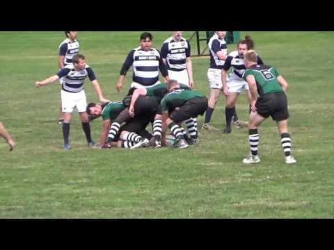 Castleton University mens rugby VS Brandeis university