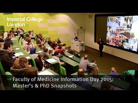 Faculty of Medicine Information Day 2015: Master's & PhD Snapshots