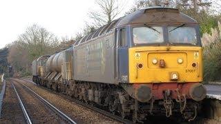 DRS & Network Rail Class 57's on DRS Rail Head Treatment Train duti...