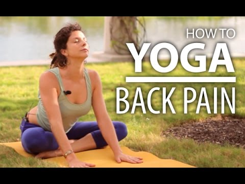 yoga for back pain  25 minute back  neck stretch