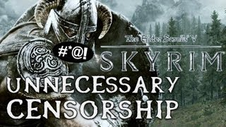 Unnecessary Censorship in Video Games - Skyrim thumbnail