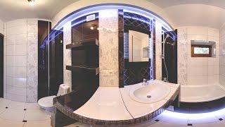 Дизайн  и ремонт ванной комнаты и туалета  + 3D pano.(Секреты подсветки в ванной.Диодная лента в нише под ванной.Панорама 360 http://remont.bz.ua/video/pano21.swf., 2014-04-09T22:16:30.000Z)