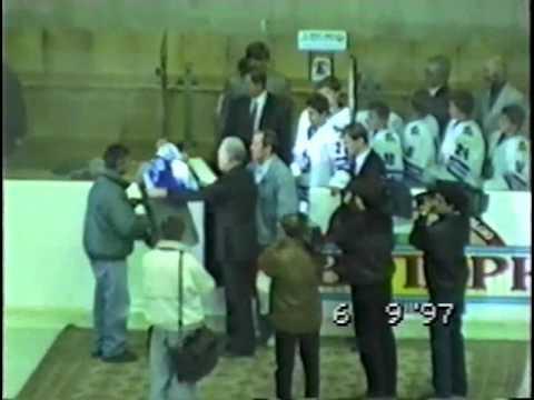 Поднятие стяга Александра Николаевича Мальцева под своды Дворца Спорта в Лужниках 1997-09-06