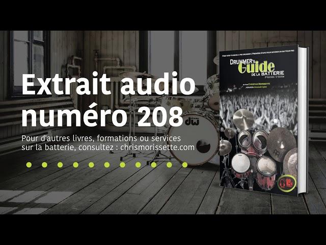 Extrait audio numéro 208 - Drummer's Guide de la batterie
