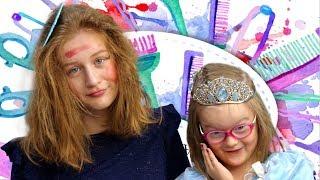 Богдана сделала макияж для Саши! САЛОН КРАСОТЫ!