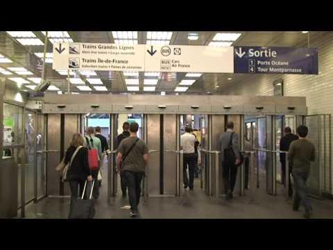 Paris metro station Montparnasse sortie