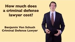 How much does a criminal defense lawyer cost? | Atlanta criminal defense lawyer