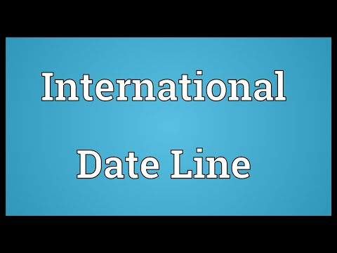 International Date Line Meaning