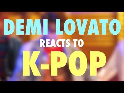 Demi Lovato reagindo a kpop legendas em pt br