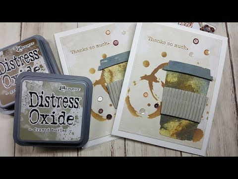 Coffee Themed Thank You with Tim Holtz Bigz Die