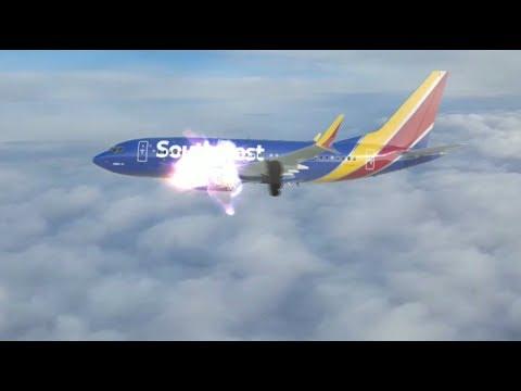 Пассажирку засосало в иллюминатор.У самолета в полете взорвался двигатель  -18.04.18