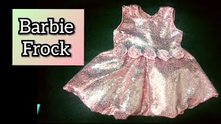 princess barbie frock for kids cutting and stitching /round umbrella baby frock
