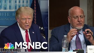 #Unbelievable: Trump Questions The Use Of Masks...Again | Katy Tur | MSNBC