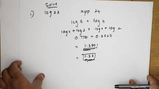 How to find log without log tables Tricks and tips series for JEE CBSE  NEET