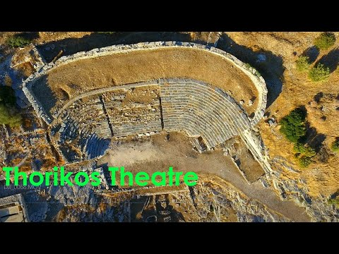 Flying at the Ancient Theatre of Thorikos, Attica, Greece