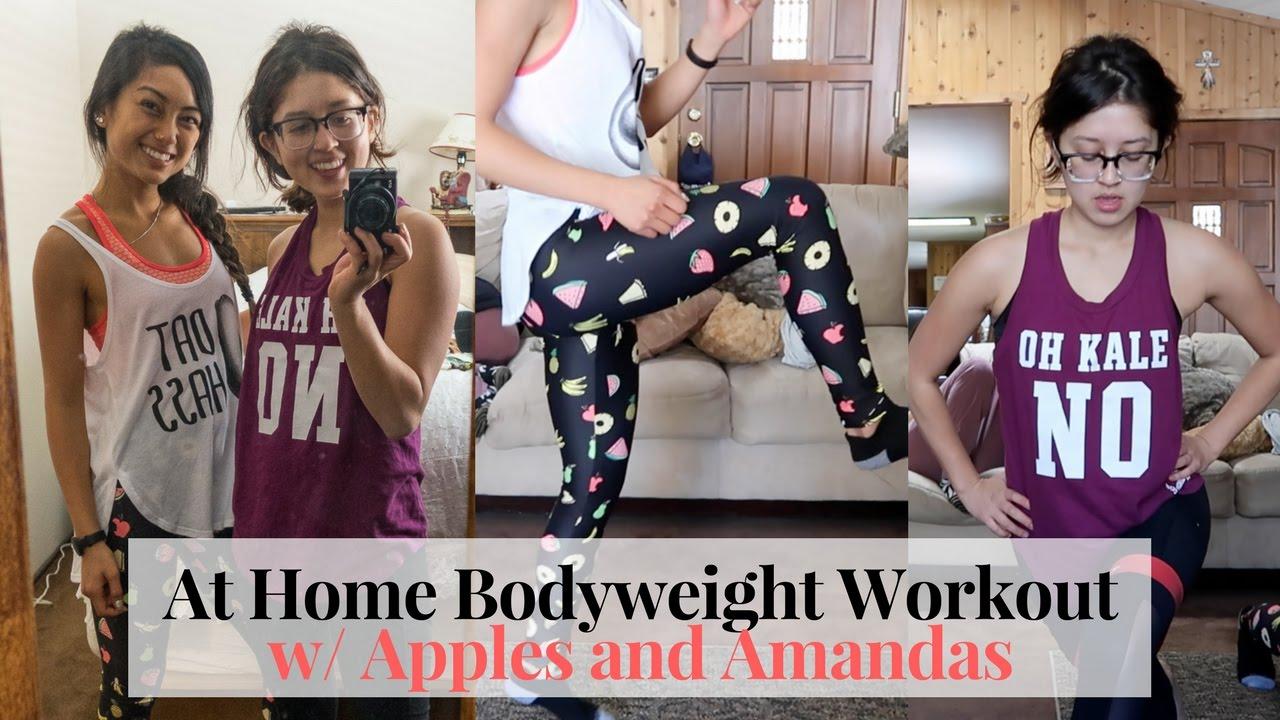 Home Bodyweight Workout w ApplesandAmandas and ConsciousChris