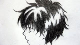 anime boy sketch easy step drawing sketches paintingvalley
