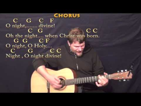 O Holy Night - Strum Guitar Cover Lesson in C with Chords/Lyrics