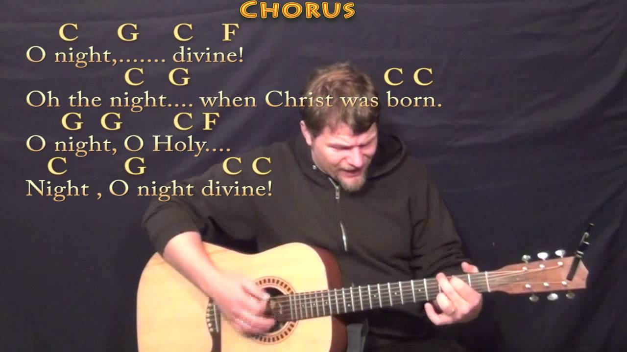 O Holy Night Strum Guitar Cover Lesson In C With Chordslyrics