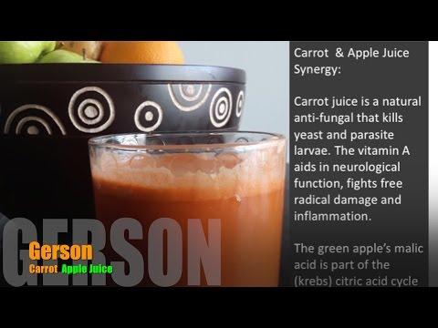 How to Make Gerson Apple Carrot Juice 8 oz (250 ml) Serving