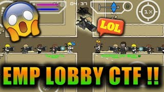 Mini Militia 6vs6 CTF EMP GUN LOBBY MOD ! WTF and FUNNY MOMENTS ! | Doodle Army 2: Mini Militia #126