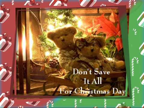 Don't Save It All For Christmas Day - Celine Dion Karaoke - YouTube