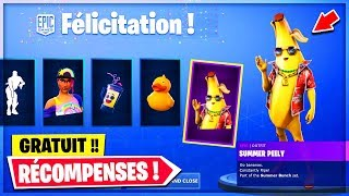 VOICI ALL FREE RECOMPENSES of the 14 DAY of SUMMER on Fortnite!