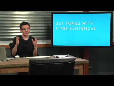 The Easy Way to Write That First Sentence