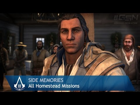 Assassin's Creed 3 - Side Memories - All Homestead Missions