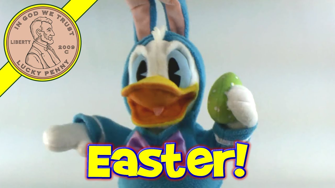 Hallmark Walt Disney Donald Duck Easter Bunny Outfit Singing Toy Kids Toy Reviews
