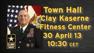 CSA hosts town hall with U.S. Army Europe Tuesday at the Wiesbaden fitness center.
