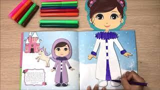 Đồ chơi bé gái dán hình trang điểm váy đầm công chúa Na Na -Những ngôi sao nhỏ Toys kids Chim Xinh