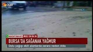 Bursa'da sağanak yağmur