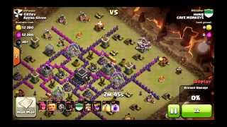 clash of clans - hog ride and golem archer attack strategy town hall 9