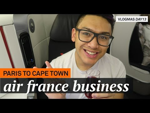 They Lost My Luggage: Paris to Cape Town on Air France B777 Business Class - VLOGMAS 2017 DAY 13