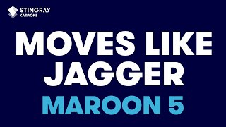 "Moves Like Jagger in the Style of ""Maroon 5"" with lyrics (no lead vocal)"