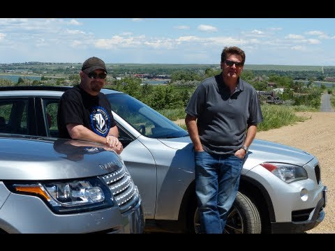 2013 Range Rover vs BMW X1 Mile High 0-60 MPH Mashup