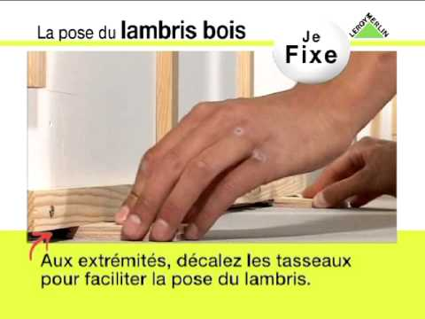 Leroy merlin pose d 39 un lambris bois youtube - Lambris leroy merlin bois ...