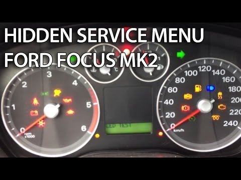 How to enter hidden service menu in Ford Focus MK2 (C-Max, secret factory mode, DTC)