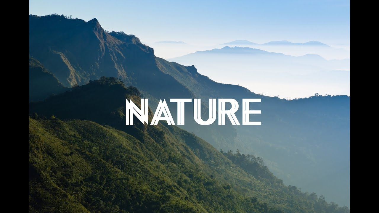 Nature from Above 4K Film - Beautiful Relaxing Background Music