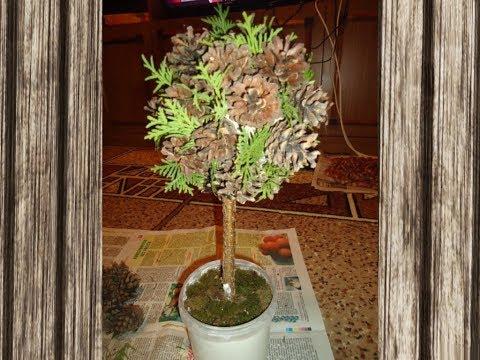 Дерево из природных
