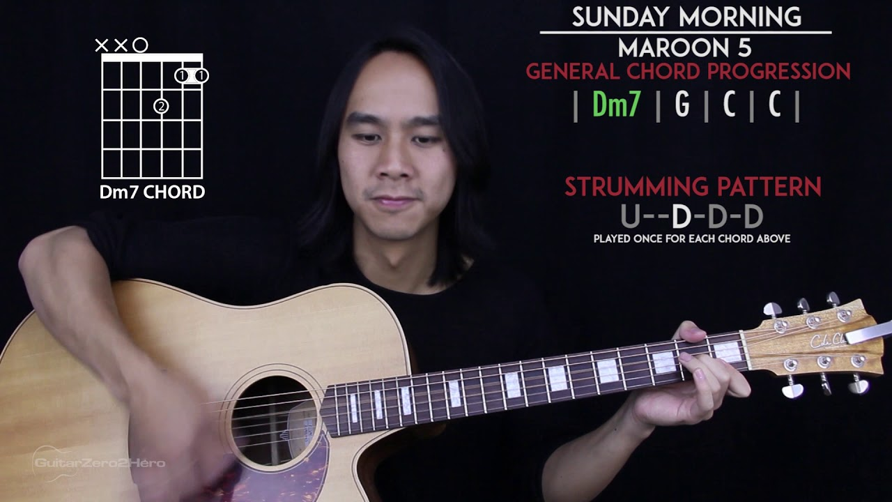 Sunday Morning Guitar Cover Acoustic Maroon 5 Tabs Chords