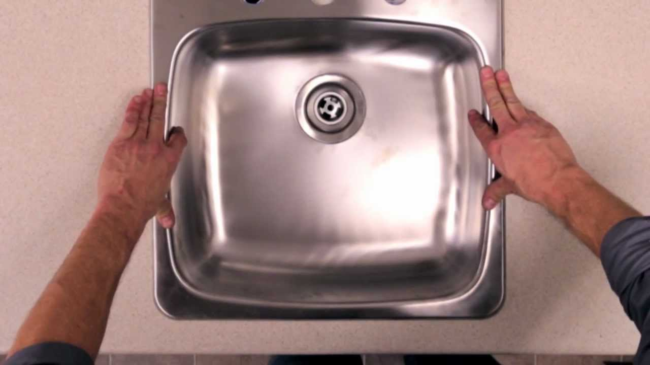 RONA   How To Install A Kitchen Sink