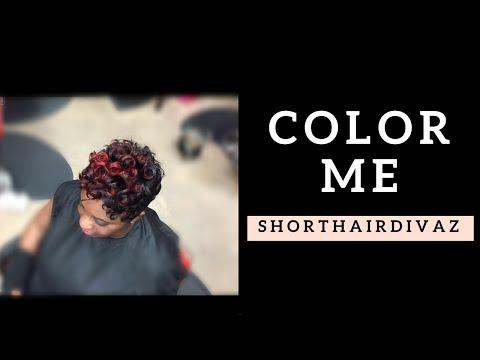 Color Me Red Short Pixie Curls