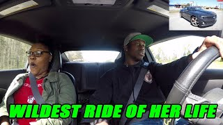 SHE SAID THIS WAS WAY FASTER THAN THAT NEW CORVETTE STINGRAY SHE RODE IIN!!  CAMARO SS RIDE REACTION