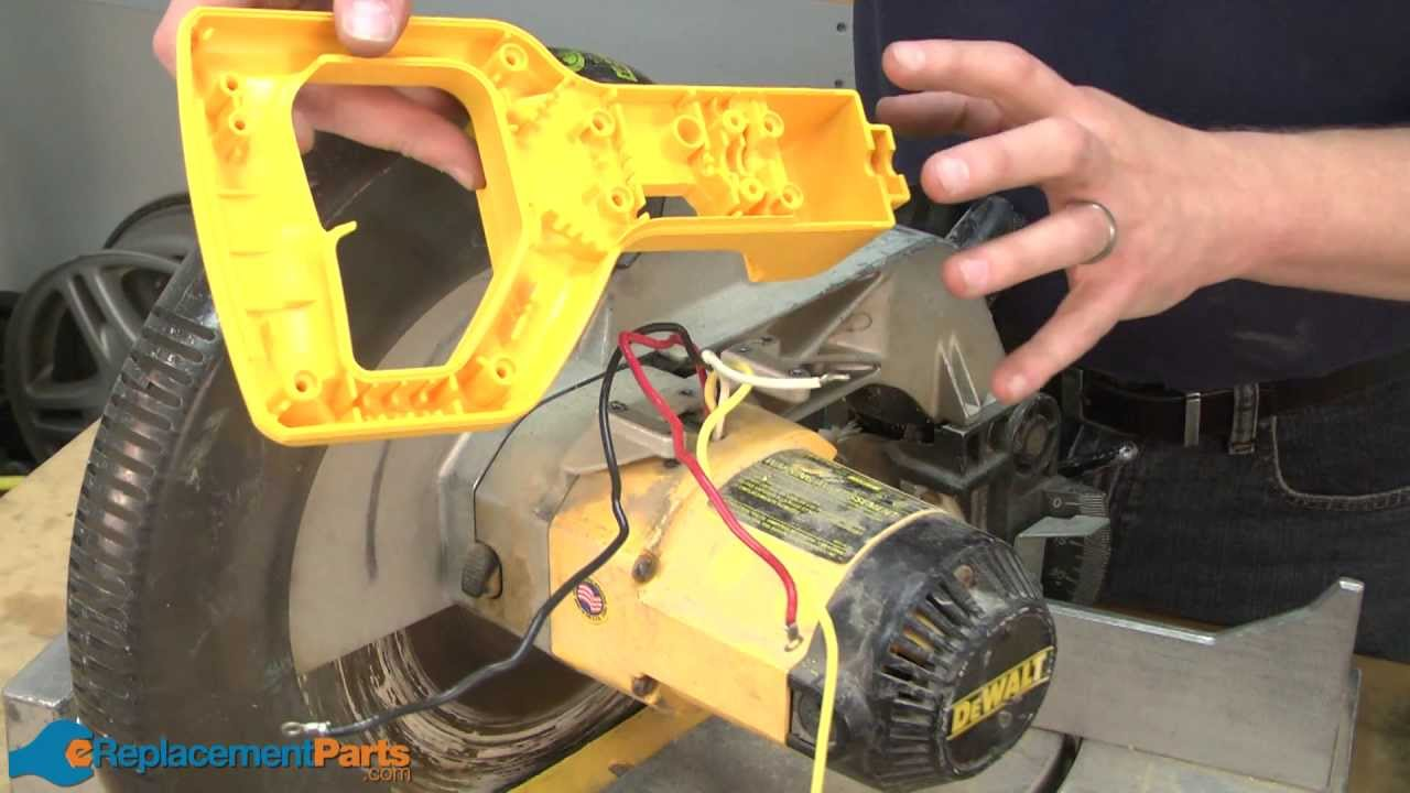 How to Install a Switch Kit on a DeWALT DW705 Miter Saw (Part # 514011217)  YouTube