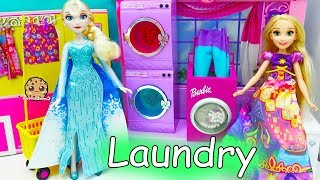 Color Changing Water Washing Machine Disney Frozen Queen Elsa Does Laundry