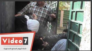 لقطات حصرية لغادة إبراهيم من سيارة الترحيلات قبل محاكمتها